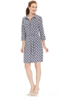 Charter Club Petite Iconic-Print Shirt Dress