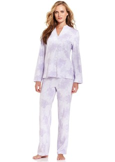 Charter Club Knit Mandarin Top and Pajama Pants Set