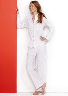 Charter Club Knit Mandarin Top and Pajama Pants Set