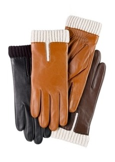 Charter Club Leather Gloves with Knit Cuff Gloves