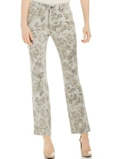 Charter Club Lexington Straight Leg Jean, Floral Print