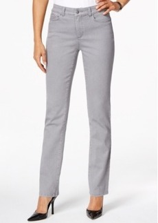 Charter Club Lexington Straight Leg Jeans, Embellished Pocket, Grey Wash