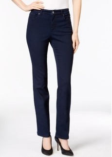Charter Club Lexington Straight Leg Jeans, Embellished Pocket, Rinse Wash