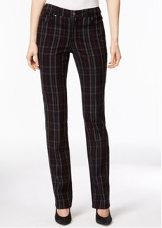 Charter Club Lexington Straight Leg Jeans, Plaid Print