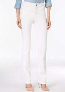 Charter Club Lexington Straight Leg Jeans, White Wash