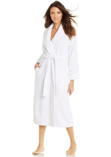 Charter Club Long Luxe Ribbed Terry Robe