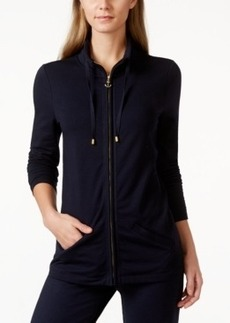 Charter Club Petite Funnel-Neck Zip-Up Jacket, Only at Macy's