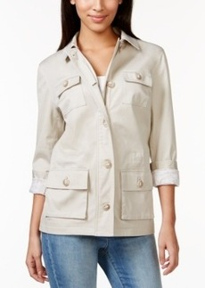 Charter Club Long-Sleeve Military Jacket, Only at Macy's