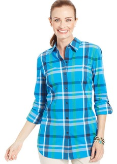 Charter Club Long-Sleeve Plaid Shirt