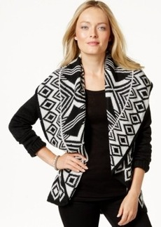 Charter Club Long-Sleeve Printed Cardigan, Only at Macy's