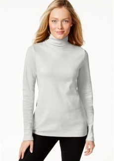 Charter Club Long-Sleeve Solid Turtleneck