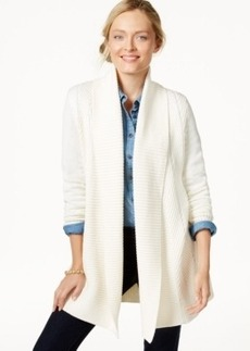 Charter Club Long-Sleeve Textured-Knit Cardigan, Only at Macy's