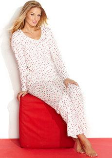 Charter Club Long Sleeve Top and Pajama Pants Set