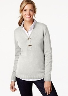 Charter Club Long-Sleeve V-Neck Sweater, Only at Macy's