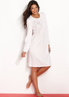 Charter Club Long Sleeves Brushed Knit Short Gown