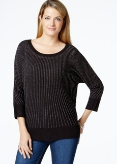 Charter Club Lurex Stripe Sweater, Only at Macy's