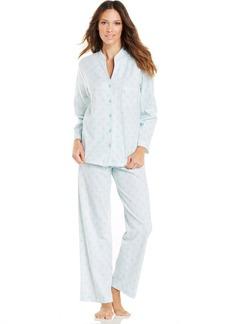 Charter Club Mandarin Collar Knit Top and Pajama Pants