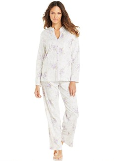 Charter Club Mandarin Collar Knit Top and Pajama Pants