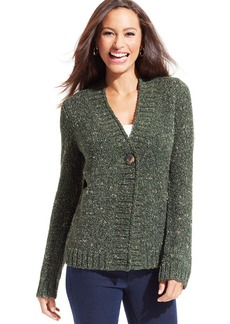 Charter Club Marled-Knit Single-Button Cardigan