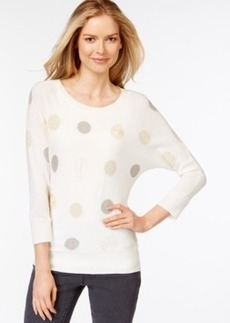 Charter Club Metallic Dot Print Sweater, Only at Macy's