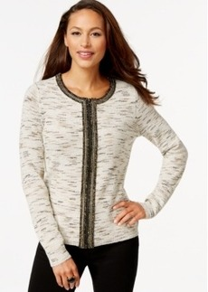 Charter Club Metallic-Trim Knit Jacket, Only at Macy's