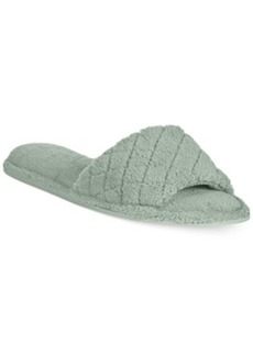 Charter Club Microterry Open-Toe Memory Foam Scuff Slippers, Only at Macy's