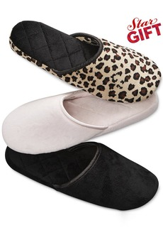 Charter Club Microvelour Scuff Slippers