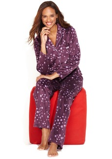 Charter Club Mink Notch Collar Top and Pajama Pants Set