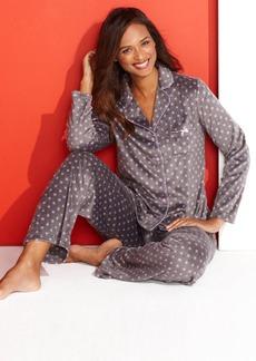 Charter Club Mink Notch Collar Top and Pajama Pants Set