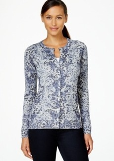 Charter Club Mixed-Print Cardigan, Only at Macy's