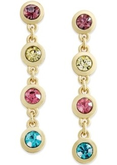 Charter Club Multi-Stone Linear Drop Earrings