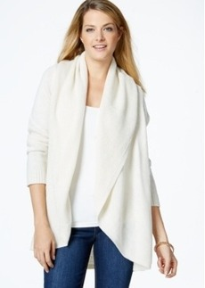 Charter Club Open-Front Lurex Cardigan, Only at Macy's