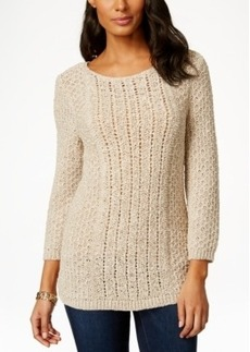 Charter Club Open-Knit Tunic Sweater, Only at Macy's