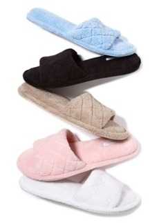 Charter Club Open-Toe Memory Foam Scuff Slippers, Only at Macy's