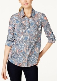 Charter Club Button-Down Shirt, Paisley Print