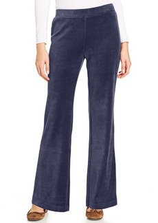 Charter Club Pants, Velour Pull-On