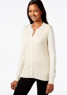 Charter Club Patterned Button-Front Cardigan, Only at Macy's