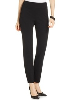 Charter Club Petite Black Pull-On Slim Trousers, Only at Macy's