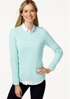 Charter Club Petite Cable-Knit Pullover Sweater, Only at Macy's