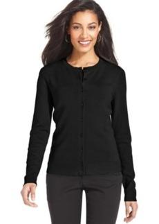 Charter Club Petite Cardigan, Long Sleeve Fine Gauge Sweater