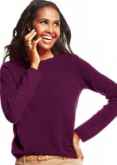 Charter Club Petite Cashmere Crew-Neck Sweater