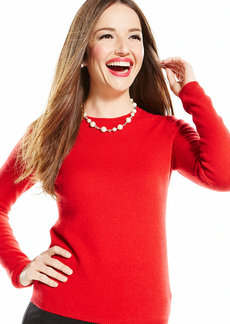 Charter Club Cashmere Long-Sleeve Crew-Neck Sweater
