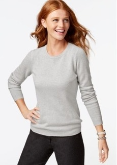 Charter Club Petite Cashmere Crew-Neck Sweater In 14 Colors, Only at Macy's