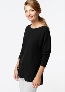 Charter Club Petite Cashmere High-Low Sweater