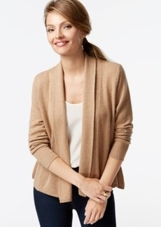 Charter Club Petite Cashmere Open-Front Cardigan