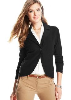 Charter Club Petite Cashmere Sweater Blazer