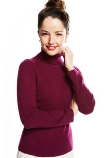 Charter Club Petite Cashmere Turtleneck Sweater