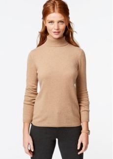 Charter Club Petite Cashmere Turtleneck Sweater