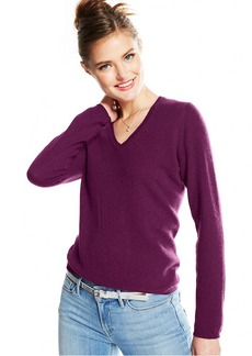 Charter Club Petite Cashmere V-Neck Sweater