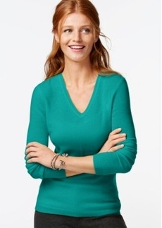 Charter Club Petite Cashmere V-Neck Sweater In 14 Colors, Only at Macy's